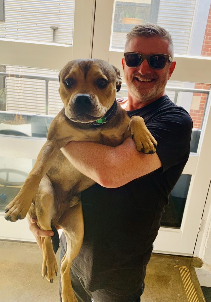 Christopher Hewson + Gus the Staffy